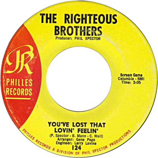 Youve Lost That Lovin Feelin 1964 single by The Righteous Brothers