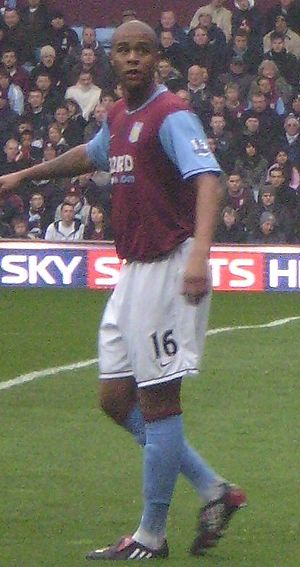 Zat Knight - Knight playing for Aston Villa in 2008