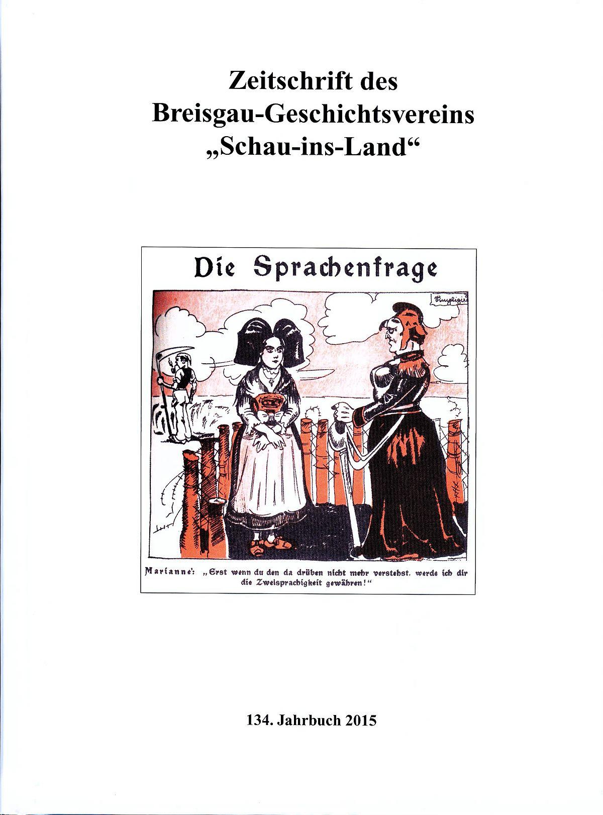 """Zeitschrift des Breisgau-Geschichtsvereins """"Schau-ins-Land"""" – Wikipedia"""