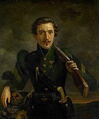 Autoportrait en uniforme de chasseur