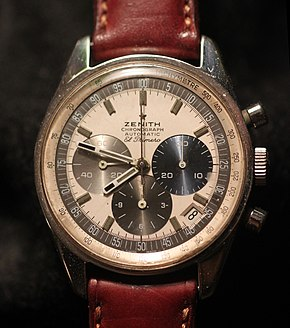 61529175ddb Un chronographe Zenith El Primero de 1970.