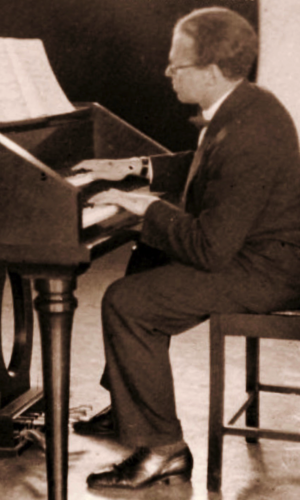 Eduard Zuckmayer - Eduard Zuckmeyer at his Harpsichord at progressive boarding school Schule am Meer on Juist Island