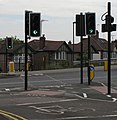 """""""Cycle Crossing Only"""" across Hanger Lane North - geograph.org.uk - 2573444.jpg"""
