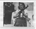 """Nicole"" a French Partisan Who Captured 25 Nazis in the Chartres Area, in Addition to Liquidating Others, Poses with... - NARA - 5957431.tif"