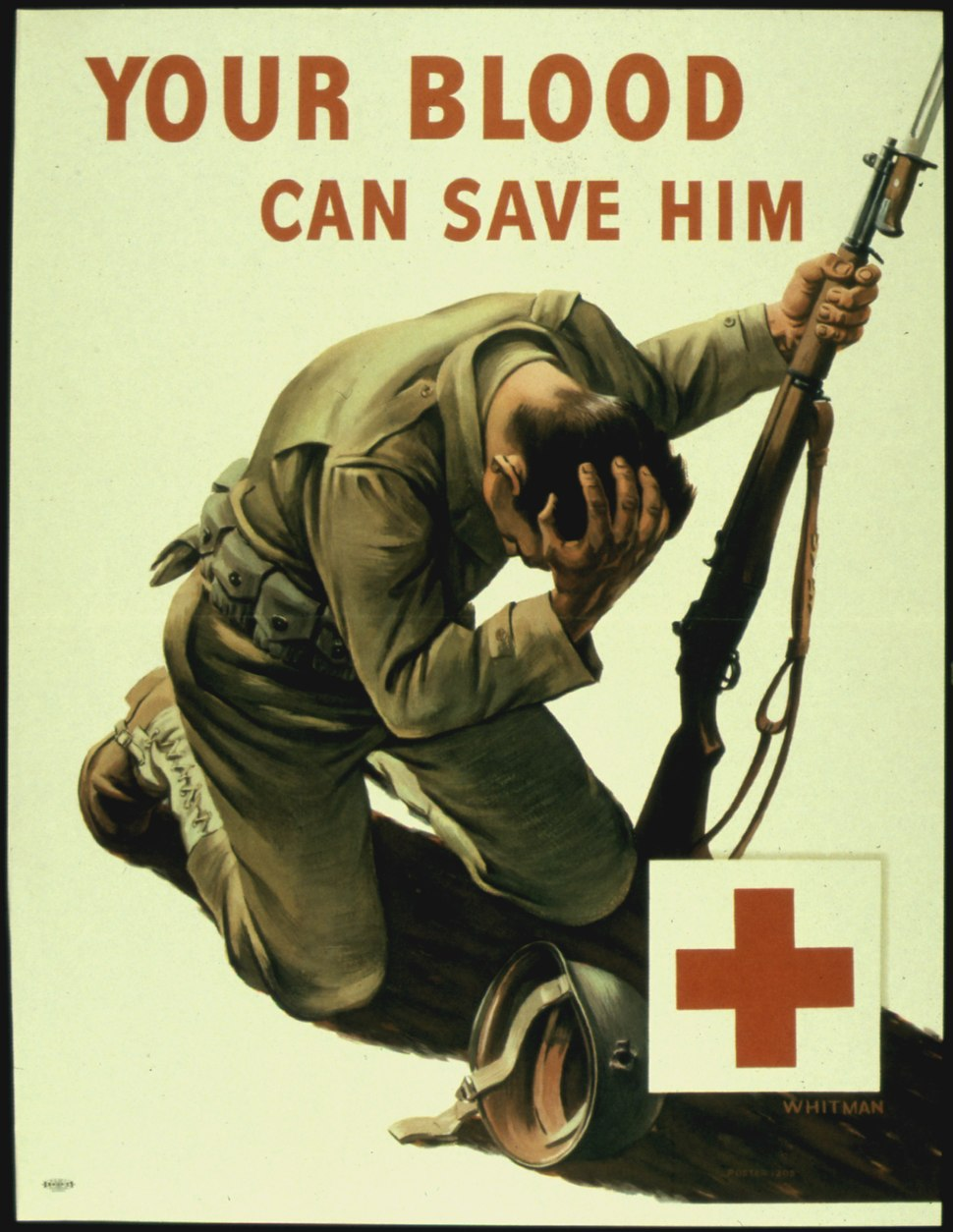 """YOUR BLOOD CAN SAVE HIM"" - NARA - 516245"