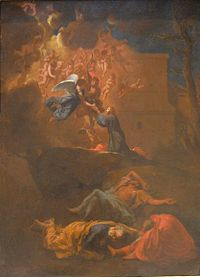 'Agony in the Garden' by Nicolas Poussin, oil on copper, c. 1627.JPG