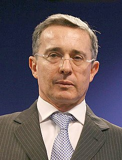 Álvaro Uribe Colombian lawyer and politician