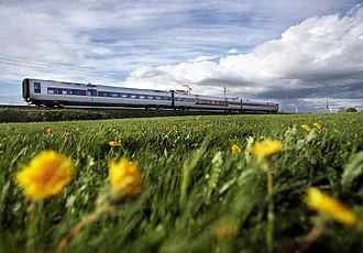 Øresundståg - Öresundståg on a field in Skåne