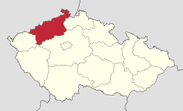 Ústecký kraj in Czech Republic.svg