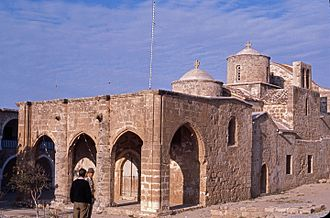 Acheiropoietos Monastery - The Church of Panagia Acheiropoietos from the south west, as the monument stood in 1973.
