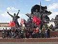 Активисты Левого Блока на первомайском митинге-2016 в Москве.jpg