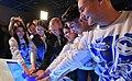Владимир Путин и Волонетры Победы на открытии квест-комнаты виртуальной реальности по событиям Сталинградской битвы.jpg