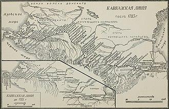 North Caucasus Line - Image: Кавказская линия до и после 1783 года