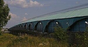 Kharkiv Metro Bridge - The fully enclosed Kharkiv Metro Bridge.