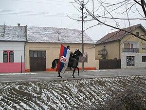 Tovariševo - Image: Сеча Бадњака 2009 1