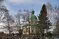 Церковь Иоанна Богослова. Вид через деревья и кладбище.jpg