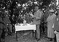 """חרתיה - ד""""ר אלבלה - ב""""כ יהודי יגוסלביה מברך בחגיגתנטיעת יער ע""""ש המלך אלכסנדר.-JNF044676.jpeg"""