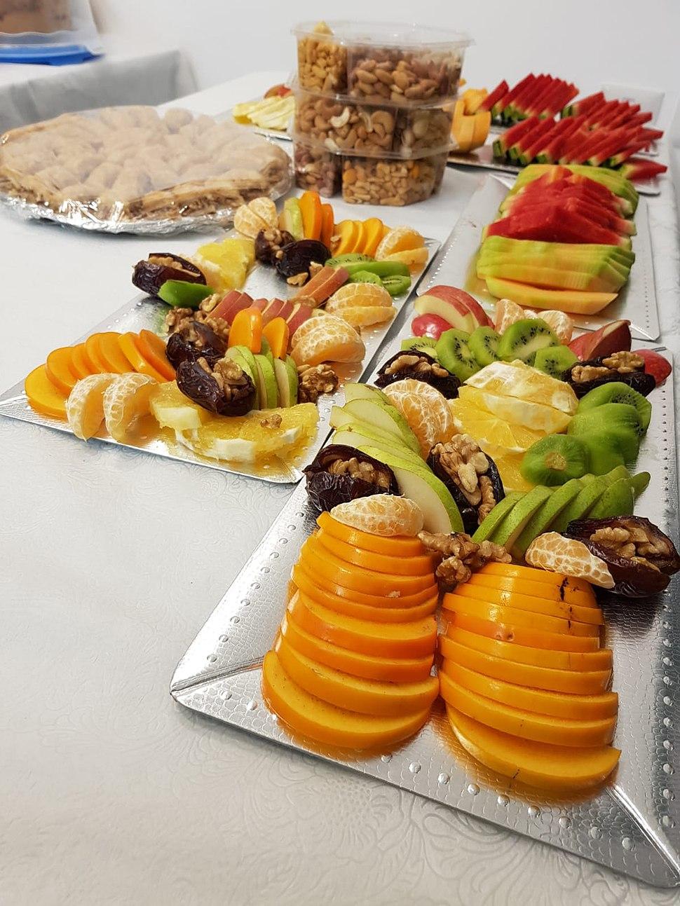 פריסת פירות לחג