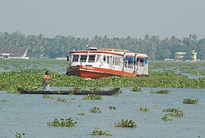 Kerala State Water Transport Department - SWTD ferry on service in the Kerala Backwaters
