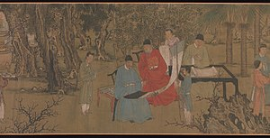 Taoist art - Image: 明 傳謝環 杏園雅集圖 卷 Elegant Gathering in the Apricot Garden MET DP273860