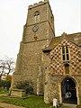 -2019-11-25 Clock tower, All Saints parish church, Weybourne.JPG