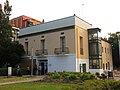 016 Molí d'en Masachs, c. Balmes 2 (Ripollet), façana del parc del Riu Ripoll.jpg