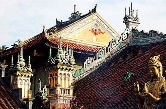 Haiphong - Image: 02 DU HANG PAGODA ARCHITECTURE