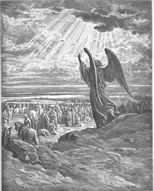 English: An Angel Appears to the Israelites (J...