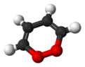 Ball and stick model of 1,2-dioxin