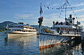 100 Jahre Dampfschiff Stadt Rapperwil - Hafenfest Rapperswil - 'Rosenempfang' - 50 Jahre MS Helvetia 2014-05-23 19-41-05.JPG