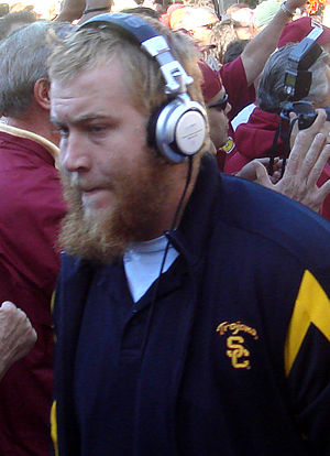 Sam Baker (offensive tackle) - Baker walking with the USC Trojans