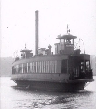 Transport of New Jersey - The Public Service-operated Edgewater, running the 125th Street Ferry route from Edgewater Ferry Terminal to 125th Street (Manhattan) in 1941