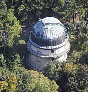 Konkoly Observatory - Aerial photo of the 60 cm Heyde dome at Konkoly Observatory