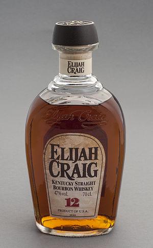 Elijah Craig - Elijah Craig brand Kentucky straight bourbon whiskey produced by Heaven Hill