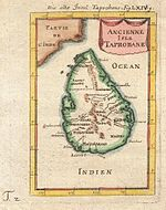 1686 Mallet map of Sri Lanka (Taprobane)