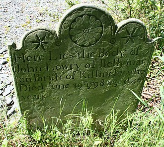 Battle of Saintfield - Image: 1798 grave John Lowry