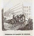 1845, Historia de Cabrera y de la guerra civil en Aragón, Valencia y Murcia, Temeridad de Cabrera en Segorbe.jpg