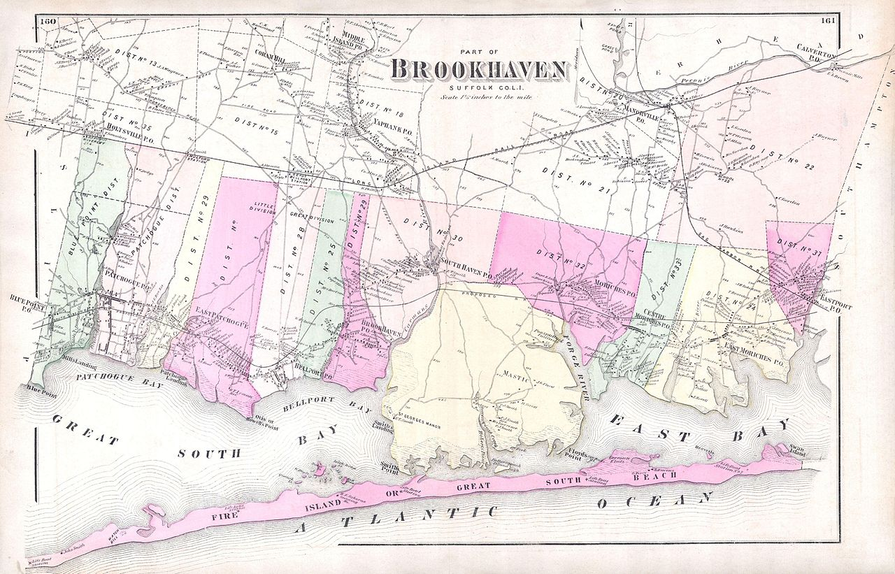 file 1873 beers map of brookhaven and fire island  long island  ny - geographicus
