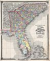 1874 Beers Map of Florida, Georgia, North Carolina and South Carolina - Geographicus - NCSCGAFL-beers-1874.jpg