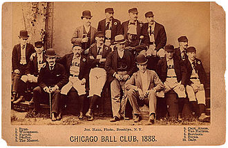 1888 Chicago White Stockings season - Image: 1888Joseph Hall
