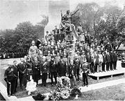 1908 unveiling of the South African War Memorial (located at University and Queen).