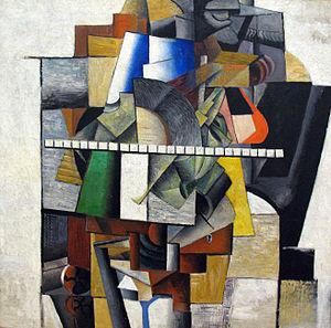 Kazimir Malevich - Malevich Portrait of Mikhail Matjuschin,  1913