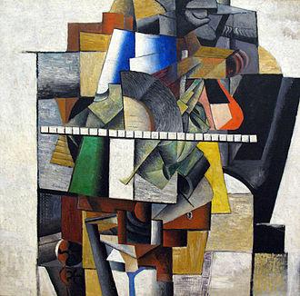 Kazimir Malevich - Malevich, Portrait of Mikhail Matjuschin,  1913