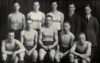 1920–21 Michigan Wolverines men's basketball team - Image: 1920 21 Michigan basketball team