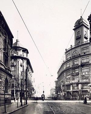 1930年代天津法租界杜总领事路与福煦将军路交叉路口