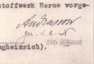 Leonid Andrussow - Image: 1931.04.25 Leonid Andrussow Signature