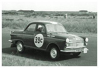 Bathurst 1000 - The Austin Lancer of Brian Foley and Alan Edney during the 1960 race.