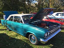 1966 Rambler Classic 550 two-door sedan at 2015 AACA Eastern Regional Fall Meet 02of12.jpg