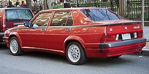 Alfa Romeo 75 - US-market Milano Quadrifoglio Verde, with the 3-litre V6