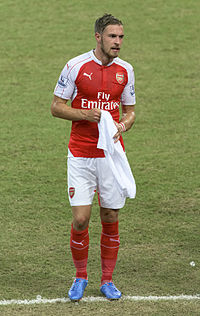 ccb8bfd23 1 aaron ramsey 2015.jpg. Ramsey playing for Arsenal ...